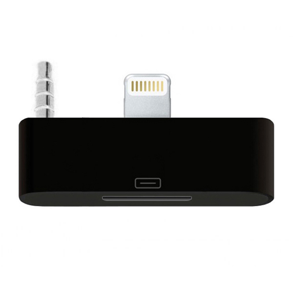 audio musik adapter 30 pin iphone 4 auf 8 pin lightning. Black Bedroom Furniture Sets. Home Design Ideas